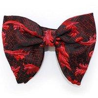 Новинки RBOCO Big Bow County Men's Новинка Цветочные Боути Красный Черный Сплошной Модные Цветы Для Мужчин Женские Свадебные Аксессуары1