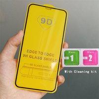 Tam Kapsama Iphone 12 Pro Max 11 XS XR 8 7 Artı 9D Ekran Koruyucu için Cam Filmi