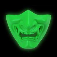 전술 AR 15 액세서리 Airsoft Prajna Luminous 마스크 절반 얼굴 액션 지혜 마스크 사냥을위한 CS 게임 위장 마스크 사무라이 마스크