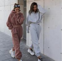 4 Renk Kadın İki Parçalı Set Spor Takım Elbise Kadın Tops Yüksek Bel Uzun Pantolon 2 adet Mektup Baskılı Eşofman Moda İlkbahar Sonbahar Kadın Giyim