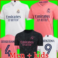 Серхио Рамос Хазард Бензема Реал Мадрид 20 21 Футбол Джерси 2020 2021 Asensio Модрик Marcelo Футбол Топ Рубашка Мужчины