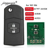 Araba Anahtarı Jingyuqin 2 Düğme Uzak Fob FIP 315MHz / 433MHz 4D63 3 m3 Axela 6 m6 Atenza için 41797/41528 41521 418401