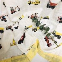 Quatro camadas Bambu Baby Muslin Cobertor Muslin Tree Swaddle Melhor do que Aden Anais Bebê / Bambu Blanket Infantil Wrap LJ201204