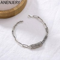 ANENJERY Vintage Multi-circle Thick Chain Bracelet For Women Men Handmade Jewelry S-B3861