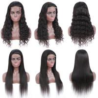 Brezilyalı düz insan saçı 4x4 kapatma ile 10-28 inç işlenmemiş doğal renk su dalga dantel ön ön pretted kadınlar için