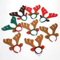 Noel Süslemeleri Noel Boynuz Saç Bantları Kırmızı Dokuma Kafa Tatil Parti Doğum Günü Partisi Malzemeleri WX9-756