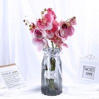 Декоративные цветы венки 1 шт. Искусственная бабочка орхидеи фальшивая мотылька Флорл цветок для домашнего свадьбы DIY украшения реальный сенсорный декор
