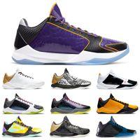 Мужская 5 прото Большой этап Баскетбольные Обувь Кроссовки Альтернативный Брюс Ли Chao La Темные Ночные Тройные Черные Мужчины 5S Тренеры Спорт 7-12