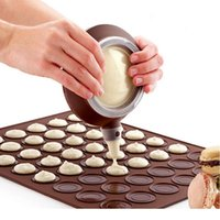 Fırın DIY Dekoratif Kek Muffin Pasta Kalıp Macaron Macaroon Pişirme Kalıp Şile Pot Levha Mat Memeleri Jllbue