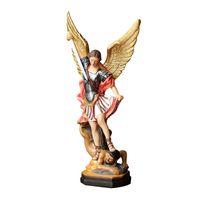 Estatua Artesanía Resina Católica Religioso 30 cm (12 pulgadas) Saint Michael Estatuas Escultura Figurine Craft Supplies Hermosa y alta calidad