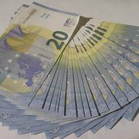 Barra de discoteca Bar de alta calidad Pretendo Euro 20 Copia Billete de banco Fake Movie Money Play Money 100pcs / Pack