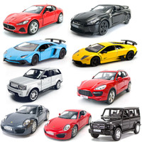 1:36 Alaşım Araba Modeli Oyuncak Geri Çekin Araba GTR Oyuncak Kapı Açabilir Spor Araba Modeli Çocuk Oyuncakları Süsler Çocuk Hediyeler