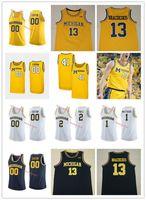 NCAA Özel NCAA Michigan Wolverines Iggy Brazdeikis Basketbol Forması Isaiah Nehirleri Zavier Simpson Charles Matthews Jorda Poole Michigan Je