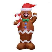 1.5 متر نفخ عيد الميلاد سانتا كلوز الزنجبيل الثلج رجل الصمام الديكور عقد حلوى عصا الديكور للمنزل في الهواء الطلق 1