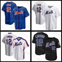 12 Francisco Lindor Jersey 2021 Nouveaux Mets personnalisés Pete Alonso Jacob Degom York Baseball Jerseys Mike Piazza Keith Hernandez Dwight Gooden