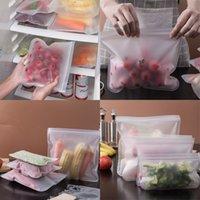 EVA 음식 신선한 가방 냉장고 청소 주최자 봉인 된 직사각형 투명 저장 용기 주방 재사용 가능한 과일 야채 3BC G2