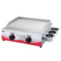 55 * 34 cm Paslanmaz Çelik Ticari Gaz Yakıt Izgara Bakeware Barbekü Dorayaki Teppanyaki Kaldırma Kalamar Demir Plaka Pişirme Makinesi1