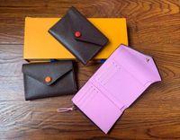 2021 المرأة فيكتورين محفظة بورتافوجليو مخلب الأزياء المحافظ فيكتورين محفظة كلاسيكي بالاس المحفظة حقيبة حامل بطاقة المحافظ M41938