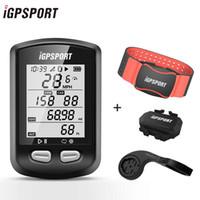 Bisiklet Bilgisayarlar IGPSPORT IGS10 ANT + Bisiklet Bilgisayar GPS Bluetooth 4.0ble IPX7 Su Geçirmez Kablosuz Arka Işık Bisiklet Hız Göstergesi Cadence