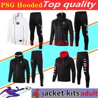 2020 2021 PSG Sweat à capuche veste tracksuit 18/19/20 Paris survêtement de football champion NEYMAR JR MBAPPE Hoodie survetement 20 21 psg jacket set