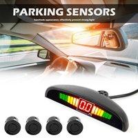 Araba Dikiz Kameralar Park Sensörleri Parktronik LED Ekran Oto Sensörü Kiti Ters Yedekleme Radar Monitör Dedektör Sistemi ile 4