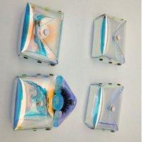 3D Transparent Package Lashes Laser Boxes Bag Cases Storage Eyelash Lash Makeup Cosmetic Eyelashes Mink Case Packing Ttmop