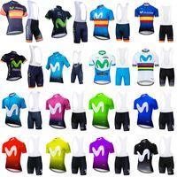 Movistar equipe ciclismo mangas curtas jersey bib shorts conjuntos de ciclismo jersey mtb ropa ciclismo mens bicycling maillot culotte roupas 102335