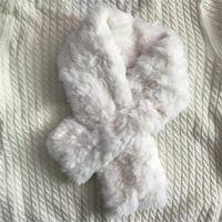 Имитация кролика меховой шарф девочек женская мода зимний плюшевый пушистый воротник пересекает шеечник густые теплые меховые лыжные шарфы LY1210