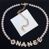 Collana di perle d'oro moda Collana Bijoux Girocchi per Lady Donne Party Wedding Lovers Regalo di fidanzamento gioielli per la sposa con scatola