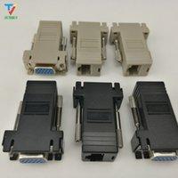Prix usine Vente chaude Nouveau VGA Extender Femme to LAN Cat5 Cat5e RJ45 Ethernet Femme Adaptateur Drop Expédition de 50 pcs / lot