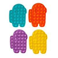 Spielzeug unter uns reversible Flip Push Pop Bubble Sensory Fidget Toys Autismus Sonderbedürfnisse Stresseinlagerung, Squeeze Talor für das Alte