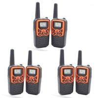 Talkie Walkie Talkies pour adultes Longueur longue 6 Pack Radios à 2 voies Jusqu'à 5 miles en champ ouvert 22 canaux FRS / GMRS UHF Handheld Walk1