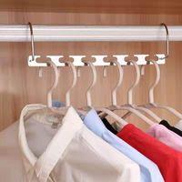 Perchas de ropa mágica Cadena de colgaje Cadena de metal Acero inoxidable Closet Percher Shirts Tidy Guardar espacio Organizador Perchas para ropa 136 G2