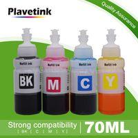PlaveTink 70ml Bottle Stampante inchiostro per T6641 T6642 T6643 T6644 Cartucce L100 L110 L120 L132 L210 L222 L200 L200 L200 Printer1 Kit di ricarica