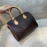 Mode Tasche Handtaschen Dame Echtes Leder mit Buchstaben Handtaschen Alte Blume Für Frauen Mini Handtaschen Umhängetasche