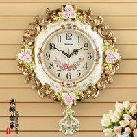 Настенные часы Винтажные часы Современная мода большая гостиная простые творческие кварцевые часы Изысканная атмосфера