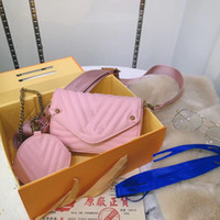새로운 4 색 여성 어깨 가방 고품질 여자 체인 크로스 바디 패션 정품 가죽 핸드백 여성 유명한 지갑 크로스 바디 가방 V683