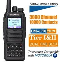 Walkie Talkie Baofeng DM-1701 Dual Slot DMR DIGITAL / analógico SMS compatível com Motorola Tier12 Ham Rádio