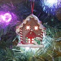 크리스마스 LED 촛불 라이트 나무 집 매달려 크리스마스 트리 장식 홈 휴가 장식 좋은 웨딩 크리스마스 선물 120pcs T1i3019