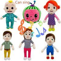 US Stock 2020 Cocomelon은 장난감 소프트 음악 만화 가족을 노래 할 수 있습니다. 만화 가족 코코 멜론 JJ 가족 자매 형제 엄마와 아빠 장난감 Dall 키즈 Chritmas 선물