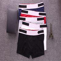 2020 Cor Aleatória Etica Marca Mens Boxers Mens Designer Underwears Respirável Algodão Boxers cuecas Calcinhas Rápidas Calcinhas Quick Seco Tamanho M -XXL