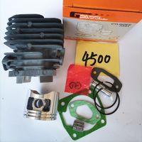 G4500 Silindir Kiti 43mm W / Conta Rulman Zenoah G455 AVS Uyar 4500 45cc Gilindir Piston Yüzük Pin Klipleri Montaj Zinciri Testere Parçaları