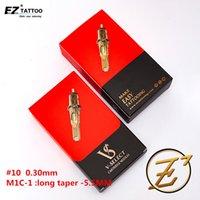 Aiguilles de cartouche de tatouage EZ V-SELECT # 10 0.30mm Bugpin Curved Magnum Round Magnum Ailette à tatouage jetable Magnum Fournitures 20pcs / Box 201124