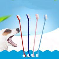 الحيوانات الأليفة اللوازم الكلب فرشاة الأسنان القط جرو الأسنان الاستمالة فرشاة الأسنان الكلب الأسنان اللوازم الصحية الكلاب الأسنان غسل أدوات التنظيف WQ228