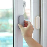 Conjunto de accesorios de baño Mango de puerta autoadhesivo auxiliar Auxiliar Pastel de vidrio Manijas de ventana de vidrio multiusos Perilla de plástico 2 PCS Klamki do drzwi1