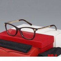 2020 Nouveaux lunettes de soleil à la mode Cadres Buffalo Horn Lunettes Cadre lunettes Rectangle lunettes Cadres Homme Verres Cas avec boîte
