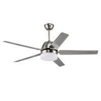 Ventilatore a soffitto a LED in acciaio inox di alta qualità all'ingrosso di alta qualità da 1320 mm Creativo semplice 5 foglia LED luce ventilatore