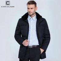 Stadtklasse Geschäft Neue Männer Mode Jacken Mäntel Lange Casual Biodown Abnehmbare Pelzkragen Männer Winter Dicke Jacke Parkas 13291 201204