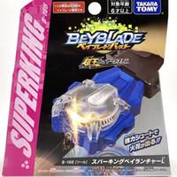 Takara Tomy Bayblade Super King Giroscópio B-166 Blue Spark Beyblade Burst Launcher Brinquedos para Crianças Meninos LJ201216
