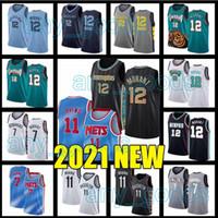 "Memphis ""Grizzlies"" Brooklyn ""Nets"" Kevin 7 Durant Kyrie Ja 12 Morant 11 Irving Basketball Jerseys 2021 Nova temporada"